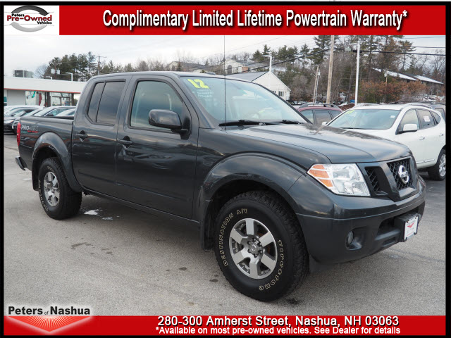 pre owned 2012 nissan frontier pro 4x 4x4 pro 4x 4dr crew cab swb pickup 5a in nashua 17n241a. Black Bedroom Furniture Sets. Home Design Ideas